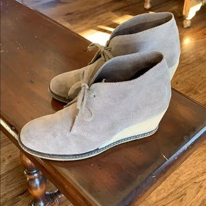 J. Crew MacAlister Wedge Boot - Tan Suede